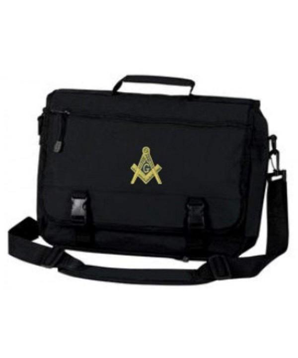 Masonic Briefcase Gold Embroidered Design Black
