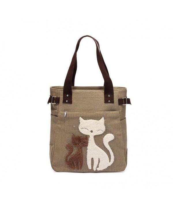 ZENTEII Women Canvas Handbag Tote