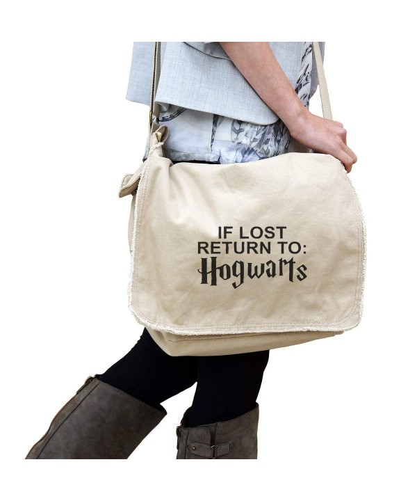 Hogwarts Authentic Pigment Dyed Raw Edge Messenger