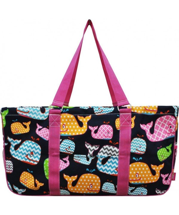 Summer Whale Print Utility Tote