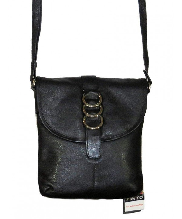 Pielino Leather Crossbody Handbag Black