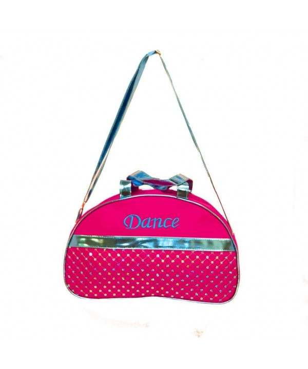 Duffle Fuchsia Metallic Sequin Shoulder