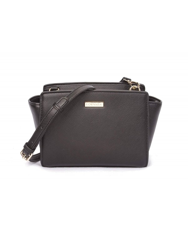 Korvara Mini Saffiano Crossbody Satchel