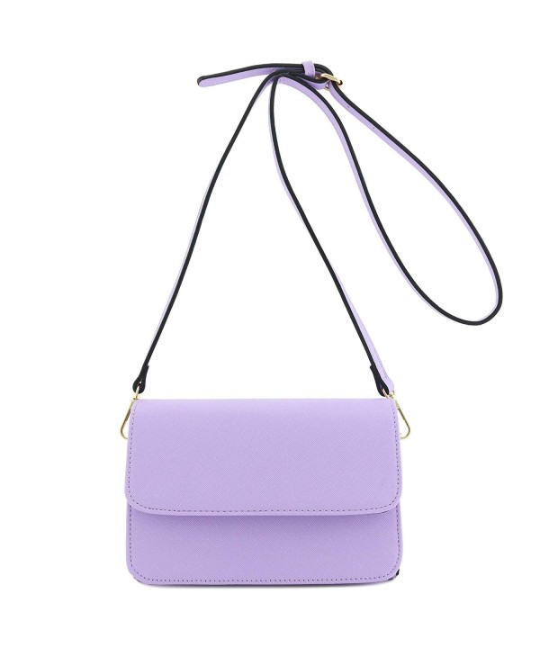 Triple Compartment Clutch Crossbody Lavender