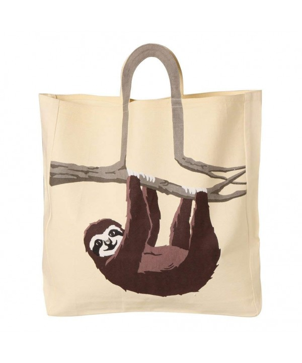 Womens Sloth Animal Canvas Tote