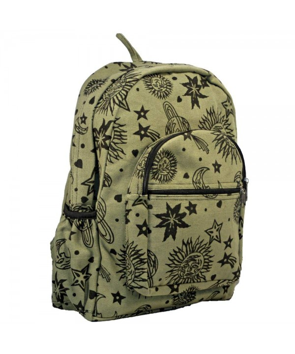 Planets Stars Celestial Green Backpack