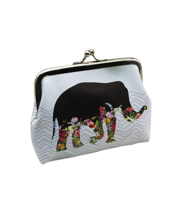 Leoy88 Womens Elephant Wallet Handbag