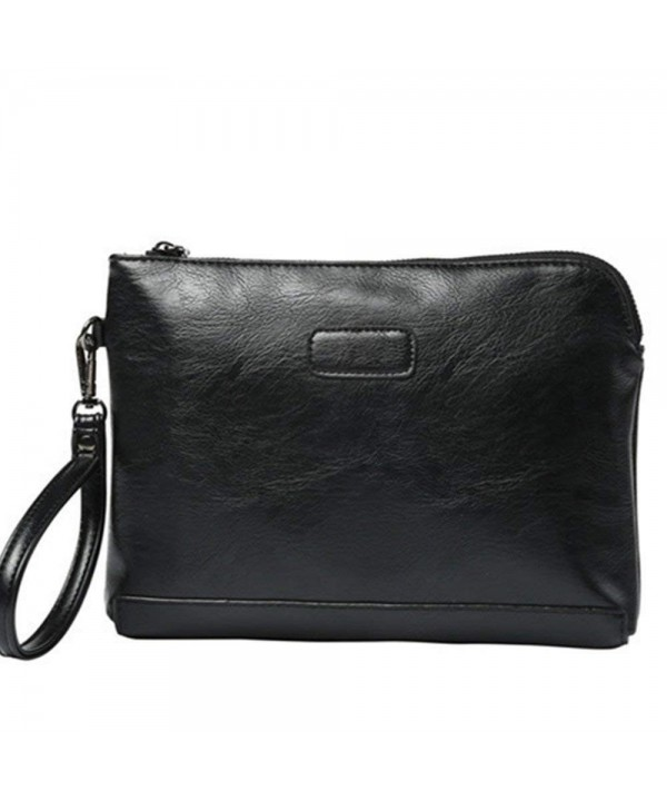 Shozafia Leather Envelope HandBag Business