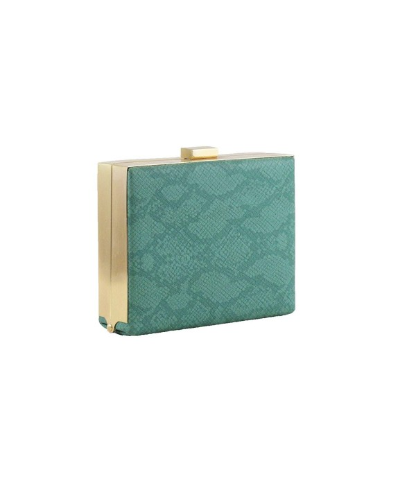 Hearty Trendy Python Clutch Minaudiere