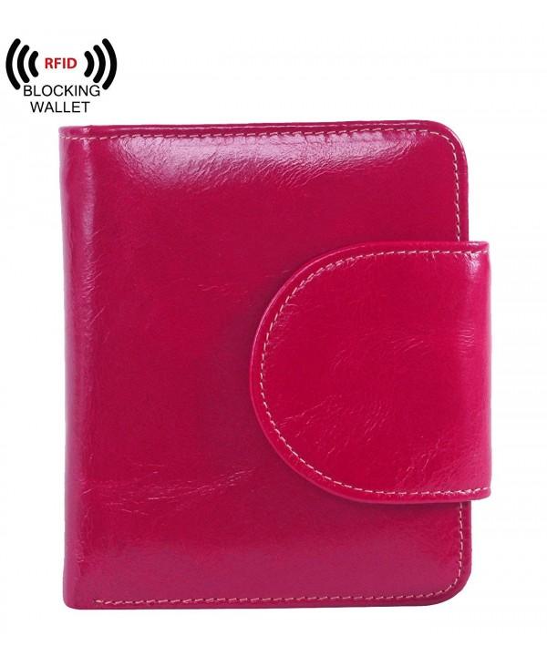 AINIMOER Billfold Genuine Leather Tri Fold