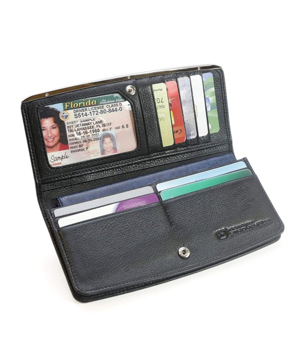 RFID Wallet Ladies Slim Clutch