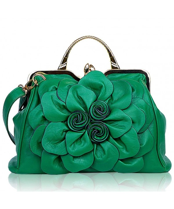 Ruiatoo Satchel Flower Leather Evening