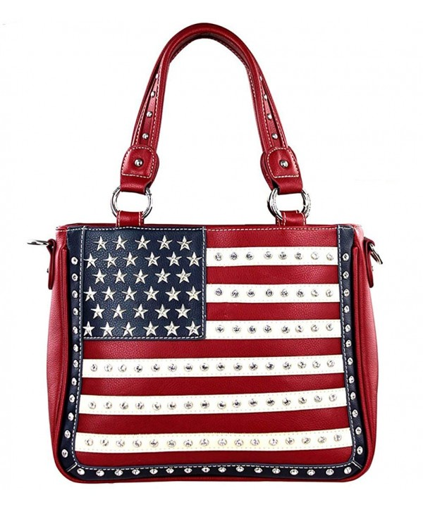 US04G 8260 Montana West Concealed Handbag Red