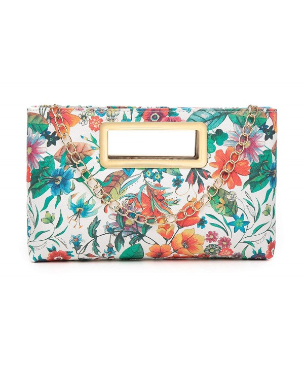 Aitbags Clutch Evening Shoulder Handbag Floral