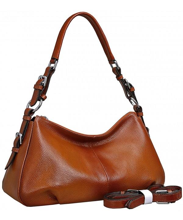 Leather Handbags Shoulder Crossbody Sorrel NEW