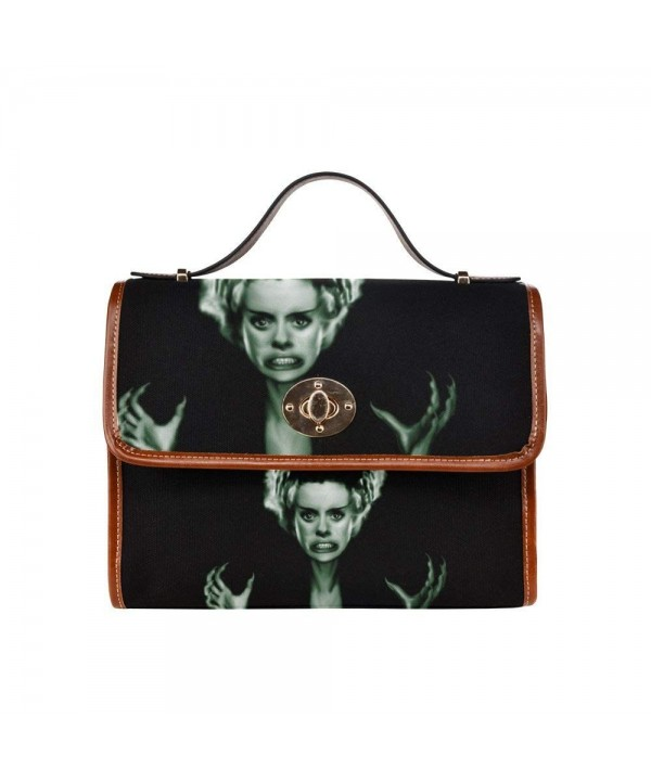 InterestPrint Waterproof Canvas Bride_Of_Frankenstein Handbag