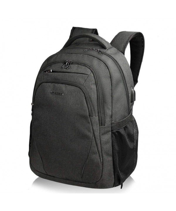 KROSER Backpack Computer Water Repellent Men Black