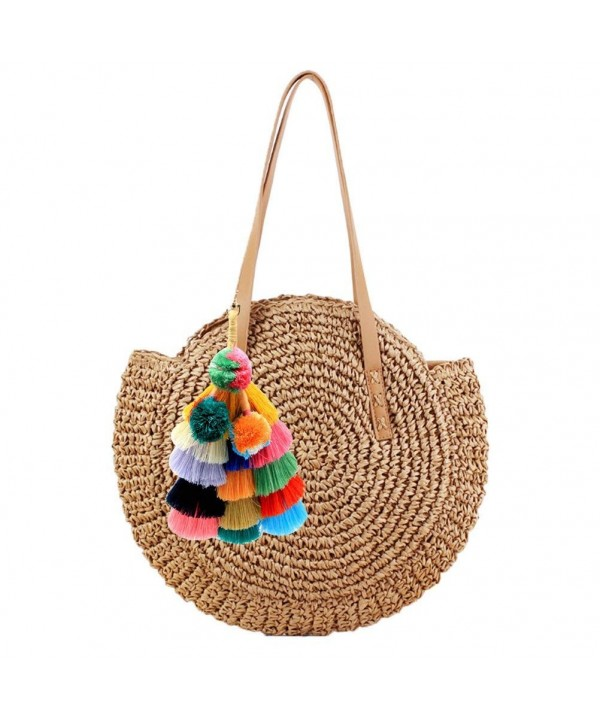 Donalworld Pompom Shoulder Summer Coffee