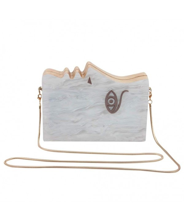Flada Acrylic Evening Handbag Shoulder