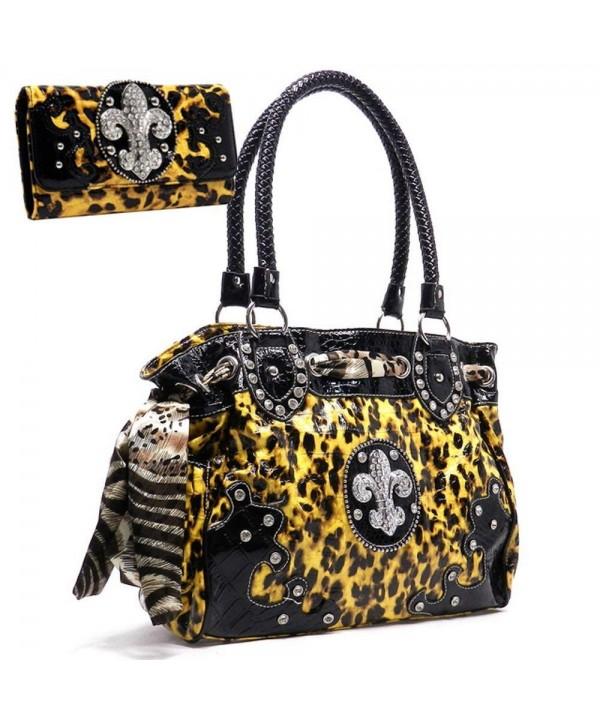 Western Rhinestone Studded Handbag Wallet