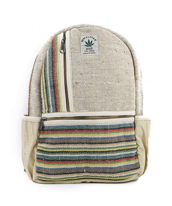 Small Mini Hemp Boho Backpack