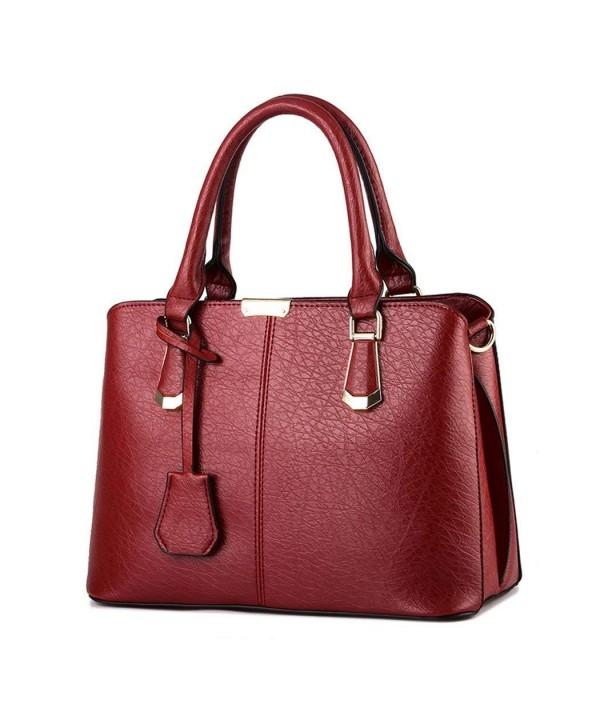 Simple Leather Shoulder Handbags Zipper