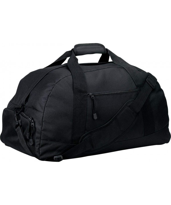 Port Company Zippered Pocket Duffel_Black_One