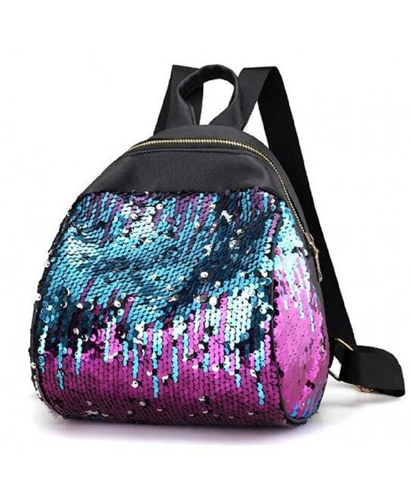 Evalent Sequins Backpack Student Daypacks