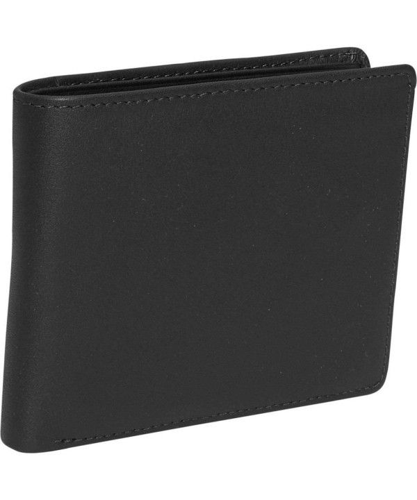 Royce Leather Commuter Wallet Black