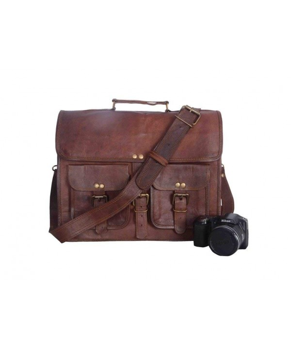Vintage Leather Bazaar Briefcase Messenger