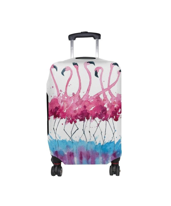 Tropical Watercolor Flamingo Suitcase Protector