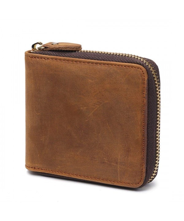 Huztencor Zipper Blocking Leather Wallets