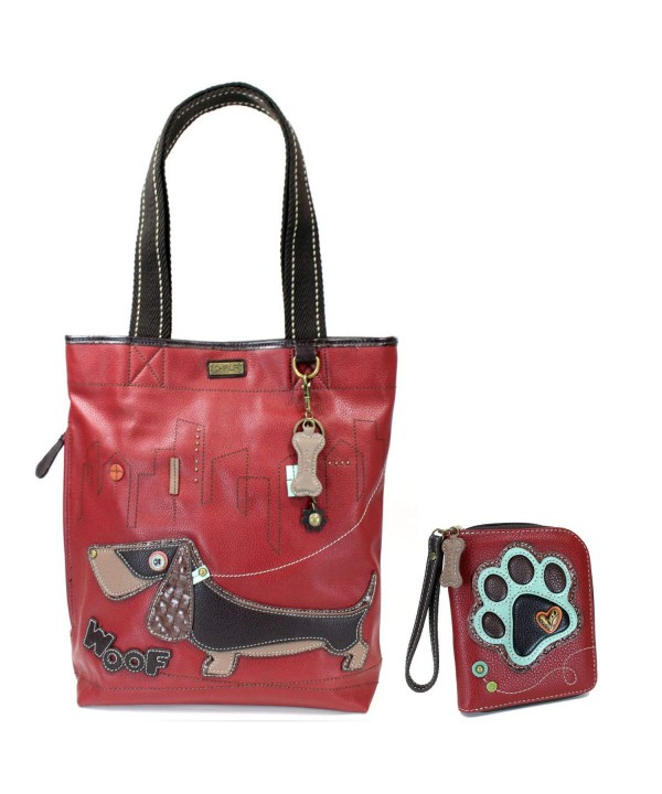 Chala Handbag Everyday Wiener Burgundy