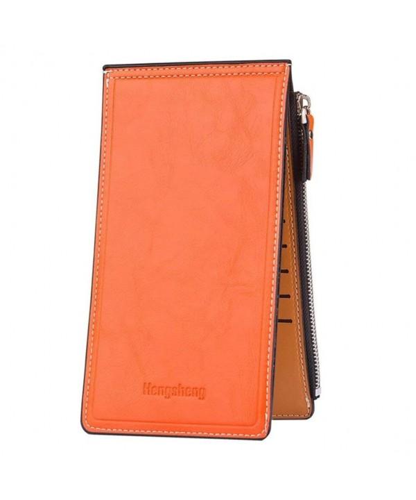 Womens Wallet Leather Bifold Zipper