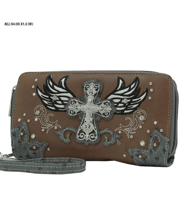 Lunar Lily Western Double Wristlet