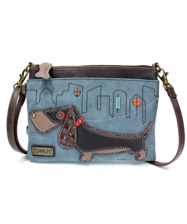 Crossbody Handbag Shoulder Adjustable Dog Indigo