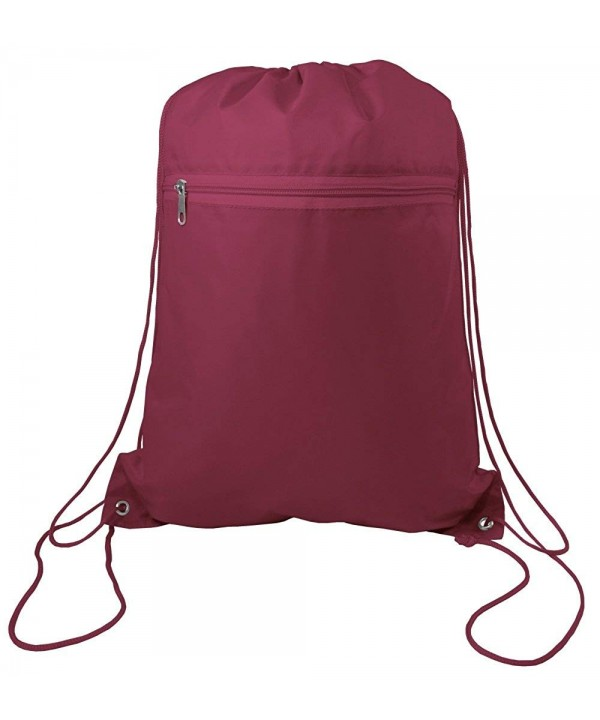 Zippered Drawstring Promotional Backpack Travel