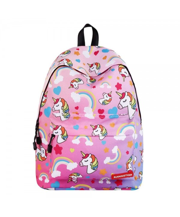 SWYIVY Rainbow Unicorn Bookbags Kids Dark