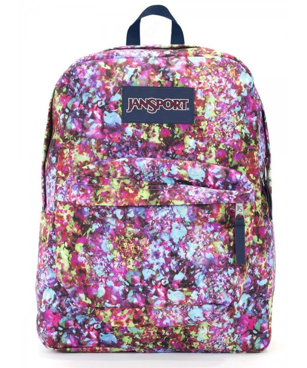 Jansport Superbreak Backpack flower explosion