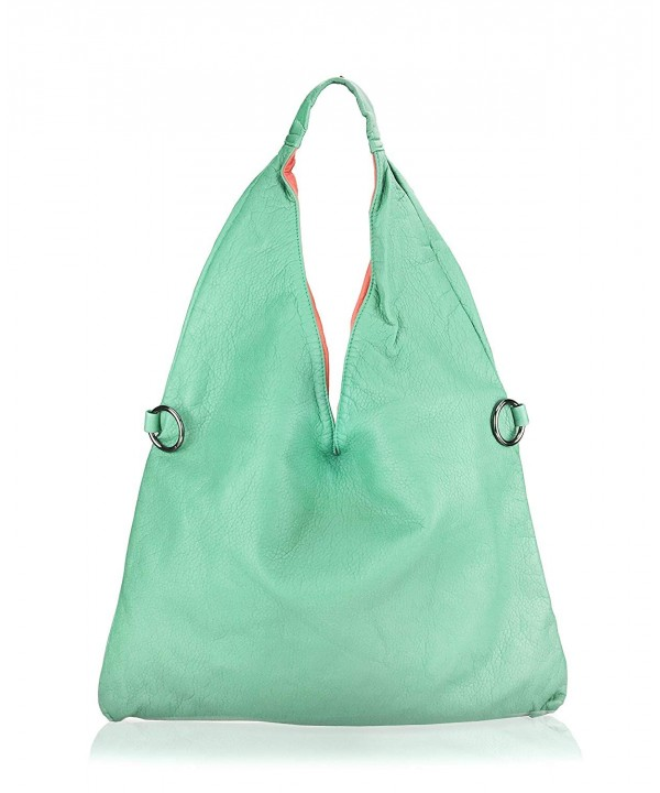 Shoulder Handbag Color Washed Leather
