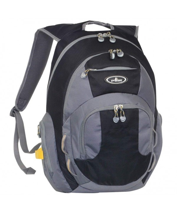 Deluxe Traveling Backpack Compartment Charcoal