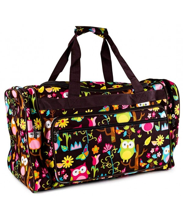 Give Print Large Duffle Brown
