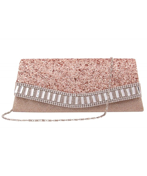 Candice Elegant Envelope Shoulder Champagne