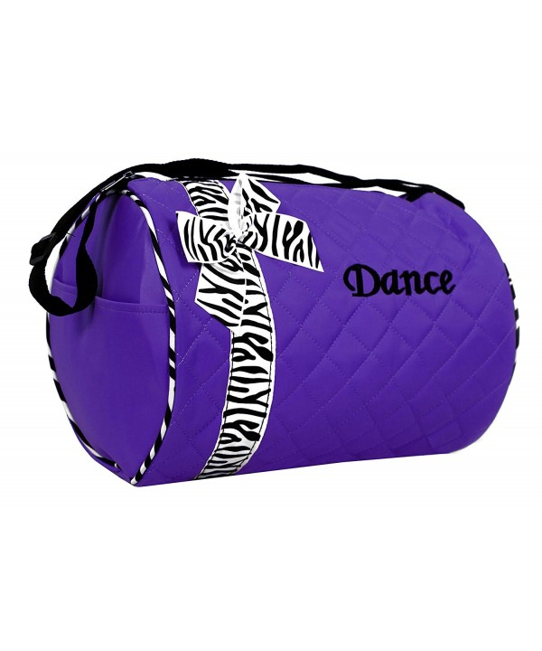 Dance bag Quilted Duffle Purple