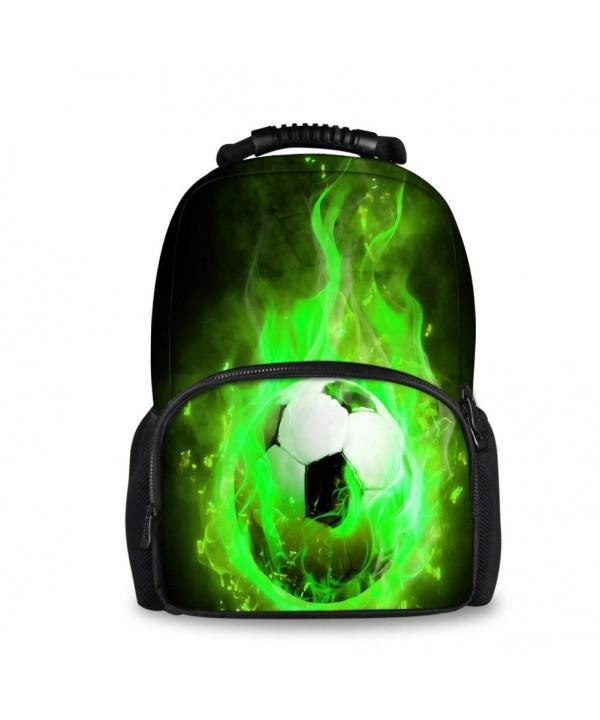HUGS IDEA Football Pattern Backpack