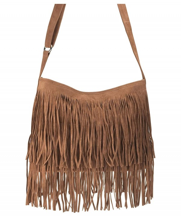 Hoxis Tassel Leather Shoulder Womens