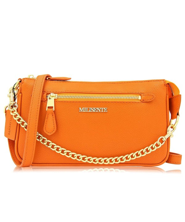 Milisente Crossbody Genuine Leather Zipper