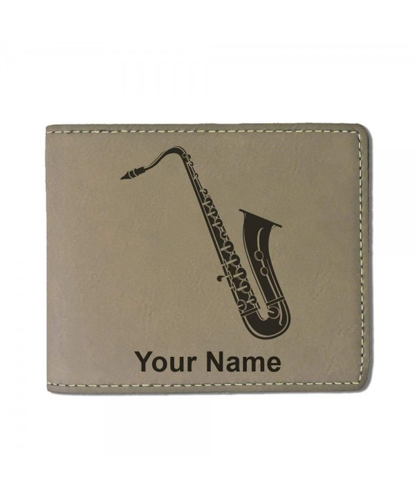 Leather Saxophone Personalized Engraving Included