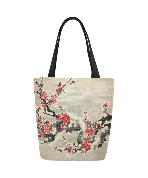 InterestPrint Vintage Blossom Shoulder Handbag