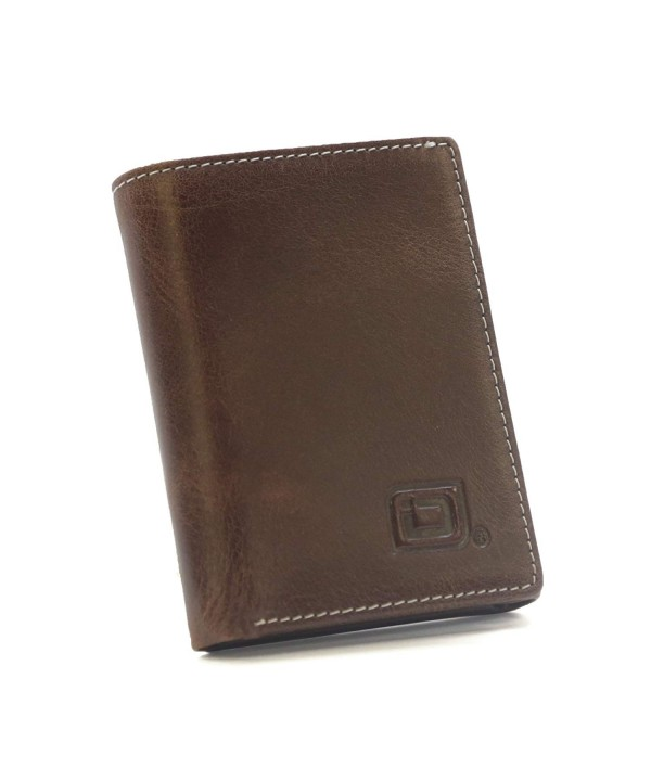 RFID Wallet Trifold Stonewashed Finish